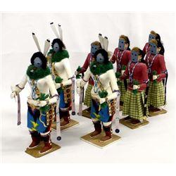 8 Native American Yei Bi Chei Kachina Dancers