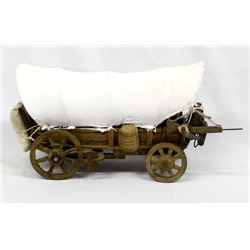 Hand Crafted Folk Art Conestoga Wagon Model