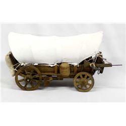 Hand Crafted Folk Art Conestoga Wagon Model