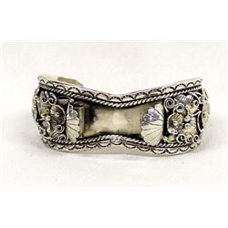 Native American Navajo Sterling Watch Bracelet