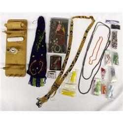 Wood Bead Loom, Loose Beads, and Beadwork