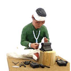 Navajo Silversmith Folk Art by Nelson B. Watchman
