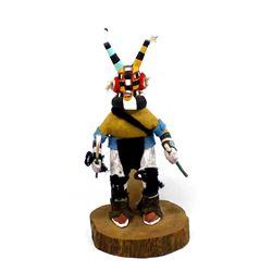Hopi Tewa Hornet Kachina by Rudeford Poleahla Sr.