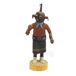 Hopi Mudhead (Kovemsi) Kachina by Kayenta Jackson