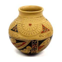 Beautiful Textured Mata Ortiz Pottery Jar, B. Tena