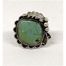 Navajo Sterling Turquoise Ring, Size 7.5