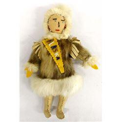 Vintage Alaskan Eskimo Leather Doll