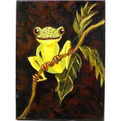Original Oil Painting ''Mr. Happy Feet''