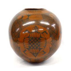 Vintage Mata Ortiz Pottery Turtle Jar, Elfida Tena
