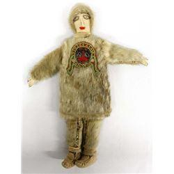 Vintage Northwest Coast Sealskin Fur Doll