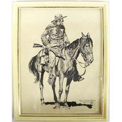 1967 Western Cowboy Print by Joe Grandee