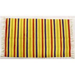 Beautiful Chimayo 100% Wool Fringed Textile