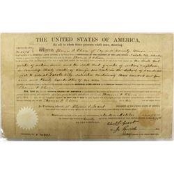 Antique Land Survey Document