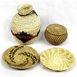 4 Native American Baskets