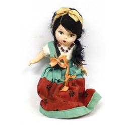 Vintage Mexican Composition Female Doll