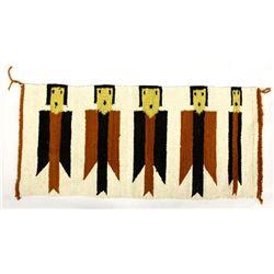 Vintage Native American Navajo Yei Textile Rug