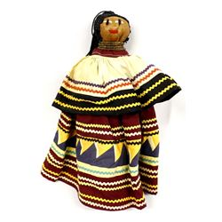 Vintage Seminole Folk Art Doll