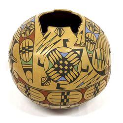 Mata Ortiz Polychrome Turtle Jar by Elfida Tena