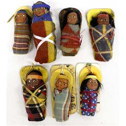7 Vintage Skookum Mailer Dolls
