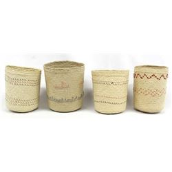 4 Northwest Coast Cylindrical Baskets