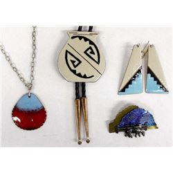 4 Pieces of Enamelware Jewelry