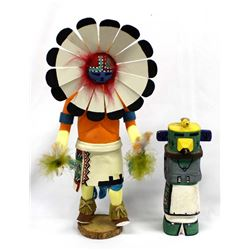 2 Native American Kachinas