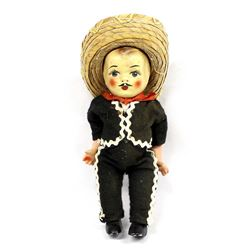 Vintage Mexican Composition Boy Doll