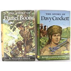 Daniel Boone & Davy Crockett hardback books