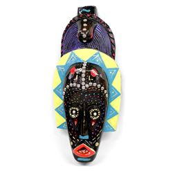 Hand Painted African Mask by Kathy Kills Thunder