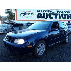 B1 --  2001 VW Golf , Blue , 152117  KM's