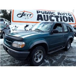 """A6 --  1998 FORD EXPLORER  , Green , 227541  KM's  """"No Reserve - Selling to the Highest Bidder"""""""