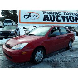 A12 --  2002 FORD FOCUS SE , Red , 205258  KM's