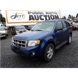 G5  --  2008 FORD ESCAPE XLT SUV, BLUE, 253,103 KMS