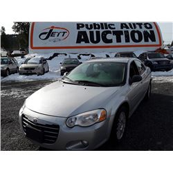 """A8 --  2006 CHRYSLER SEBRING TOURING , Grey , 140785  KM's   """"No Reserve - Selling to the Highest Bi"""