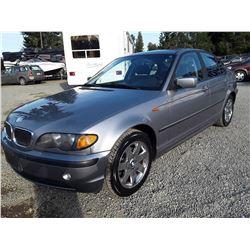 B4 --  2004 BMW 320I , Grey , 123190  KM's