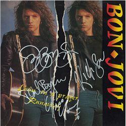 Bon Jovi Band Signed Livin' On A Prayer / Runaway Album