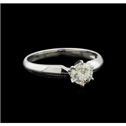 14KT White Gold 0.75 ctw Round Cut Diamond Solitaire Ring