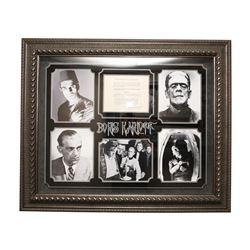 Boris Karloff Autographed Collage