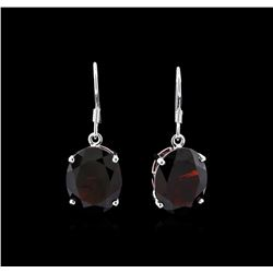 Crayola 22.00 ctw Garnet Earrings - 14K White Gold