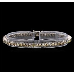 14KT White Gold 6.83 ctw Diamond Tennis Bracelet