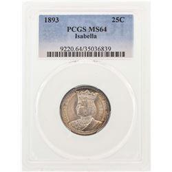 1893 Isabella Commemorative Quarter Coin PCGS MS64