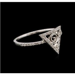 0.20 ctw Diamond Ring - 14KT White Gold