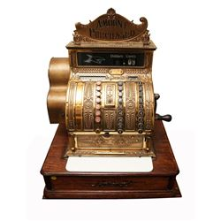 Vintage Brass Cash Register