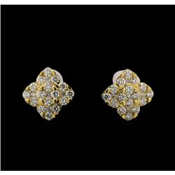 14KT Yellow Gold 0.70 ctw Diamond Earrings