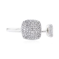 0.31 ctw Diamond Ring - 14KT White Gold