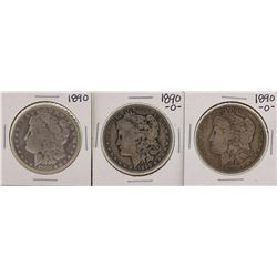 Lot of 1890 & (2) 1890-O $1 Morgan Silver Dollar Coins