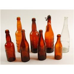 Beer Bottles /  Buffalo Brewing / 8 Items.  (61453)