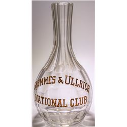Grommes & Ullrich /National Club /  Backbar Decanter  (48501)