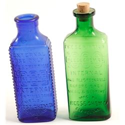 Colored Drug Bottles / 2 Pieces.   (78811)