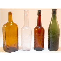 Colored Window Bottle Collection (4  Items ).    (42265)